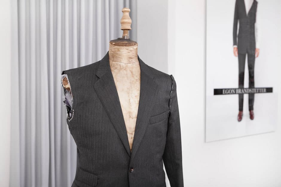 Bespoke suit before final fitting