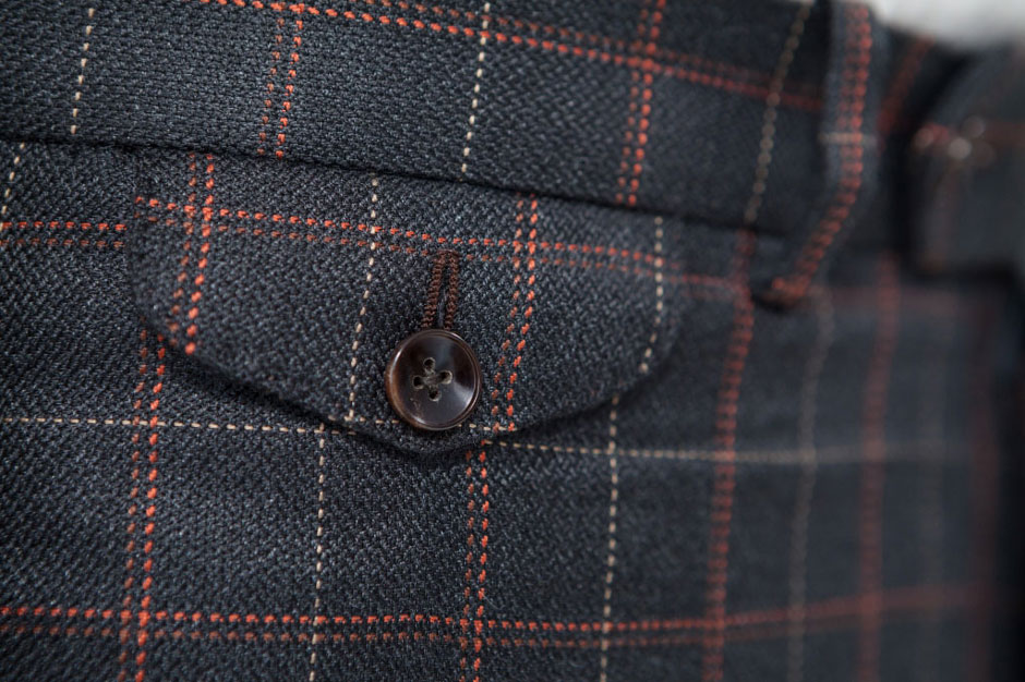 Watch pocket of a bespoke silk suit
