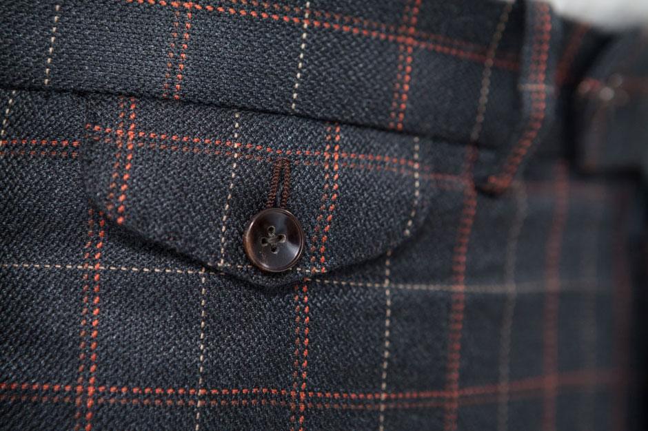 Watch pocket of a bespoke silk suit