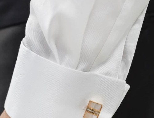 Double cuff of a bespoke dinner jacket shirt