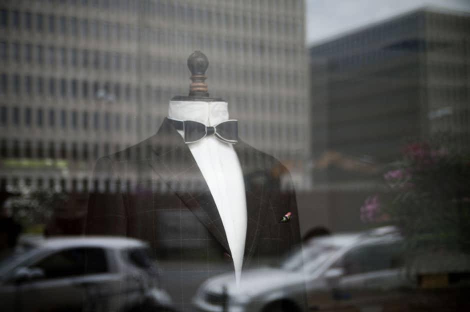 Mannequin im Schaufenster der Maßschneiderei Egon Brandstetter in Berlin
