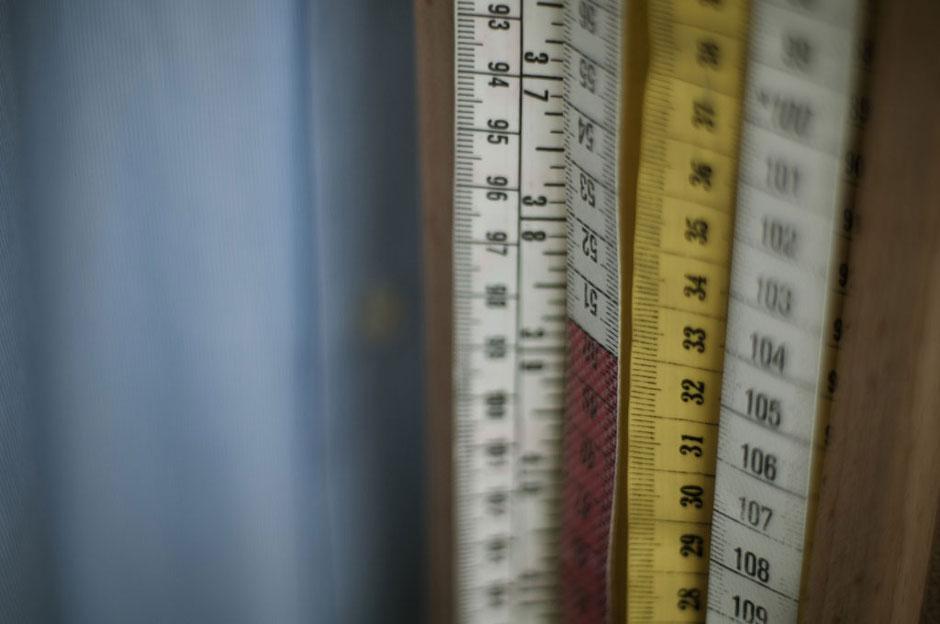 Maßband zum Vermessen von Kunden bei Maßanfertigungen