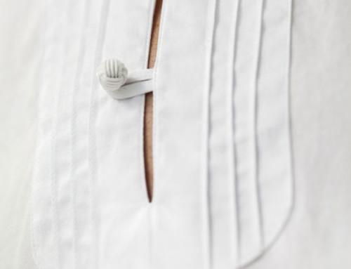Orientalisch inspiriertes Maßhemd in Biesen abgesteppt