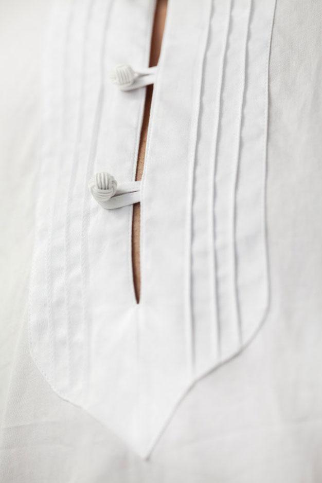 Orientalisch inspiriertes Maßhemd in Biesen abgesteppt von Egon Brandstetter Herrenschneider Berlin