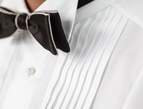 Plissé Einsatz eines maßgeschneiderten Smoking Hemds