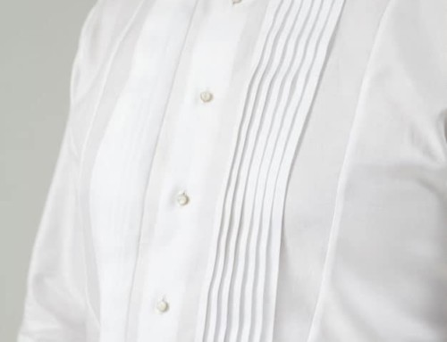 Bespoke dinner jacket shirt for the festive occasion