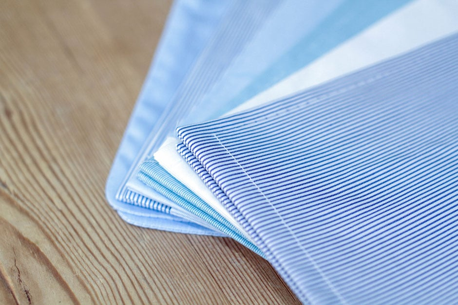 Tailored shirts made from finest shirting fabrics