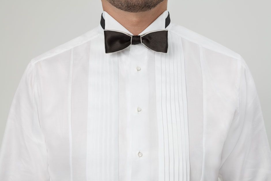Custom tuxedo shirt hand tailored by Egon Brandstetter Bespoke Tailor Berlin