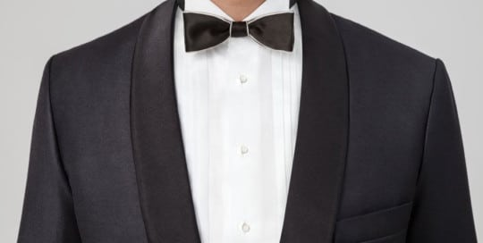 Bespoke dinner jacket with pure silk facing lapel from Egon Brandstetter Bespoke Tailor Berlin